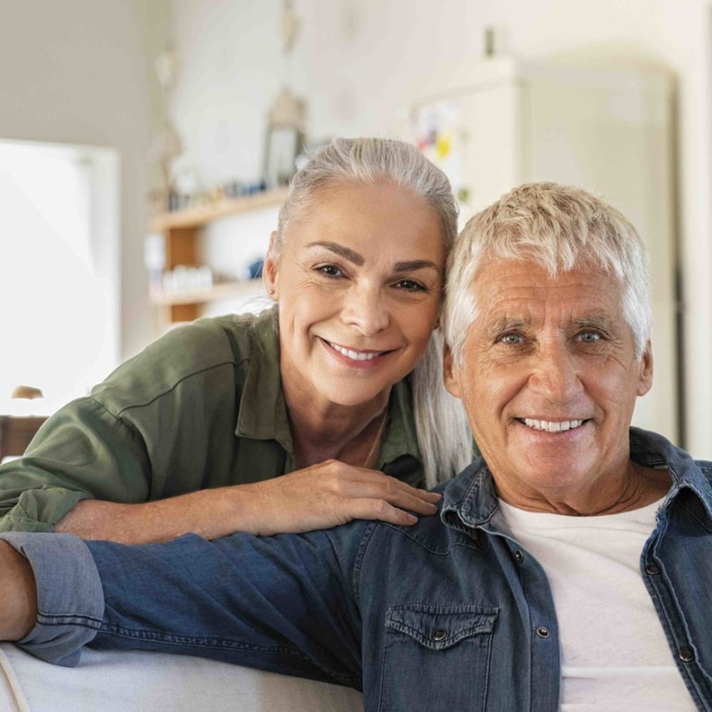 Senior couple relaxing at home22